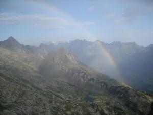 Soy;ayorAneto glaciar julio 2009 119 doble arcoiris desde la arista de La Renclusa, nos empieza a llover